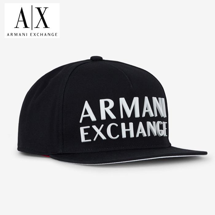 A/X アルマーニ・エクスチェンジ・ユニセックス ARMANI EXCHANGE 正規 キャップ ハット 帽子 ax691 黒 ブラック