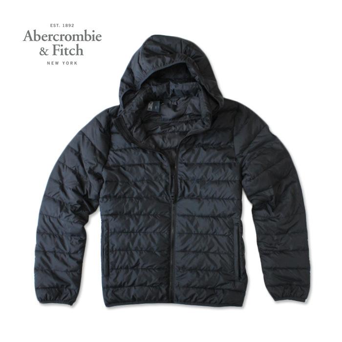 アバクロ Abercrombie メンズ 軽量ダウンジャケット Light Weight Puffer Jacket ab686 ネイビー フード取り外し可能