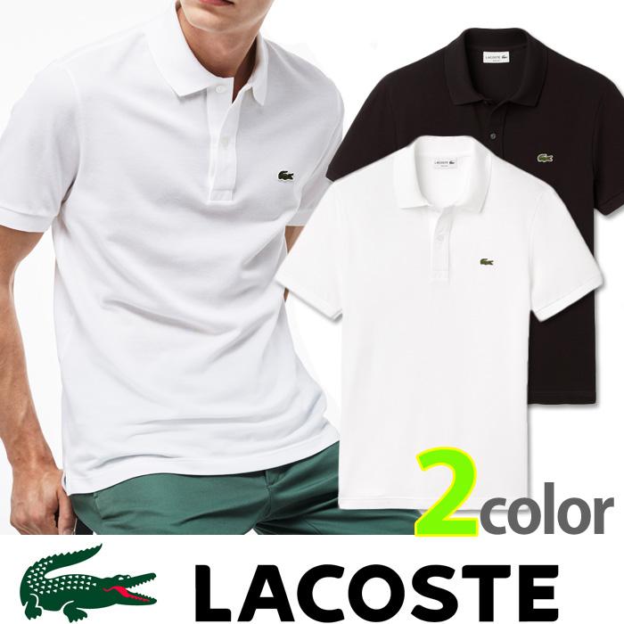 【LACOSTE】ラコステ メンズ ワンポイント ポロシャツ鹿の子 ホワイト ブラック プレゼントにもおすすめ la12
