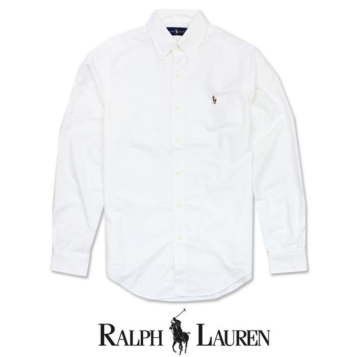 【POLO Ralph Lauren】ラルフローレンマルチカラー ワンポイント 長袖シャツ ボタンシャツ r400 ホワイト White 白