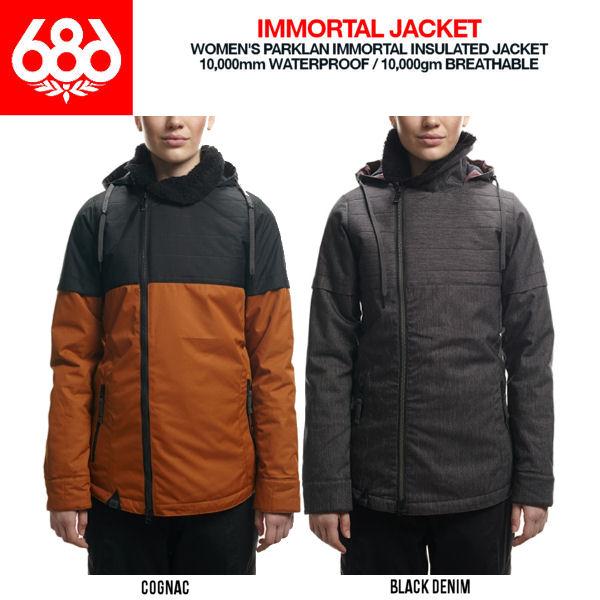 【686】シックスエイトシックス2016-2017 Parklan Immortal Insulated Jacket レディーススノージャケット スノーボードウェア 長袖ウエア/2カラー/XS-L【あす楽対応】