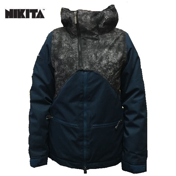 【NIKITA】ニキータ 2015-2016/HEL JACKET JAPAN レディーススノージャケット スノーボード スノーウェア ウエア/XS~XL/JetBlack-OrionBlue
