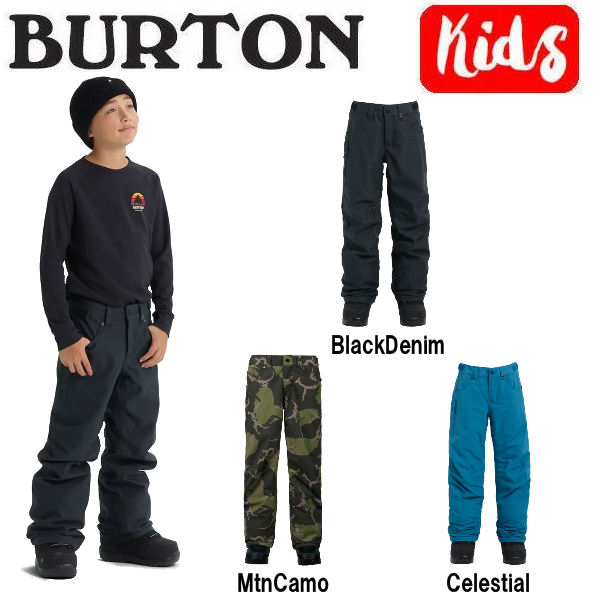 【BURTON】バートン 2018-2019 Boys Burton Barnstorm Pant キッズ 子供用 スノーパンツ ボトムス スノーボード XS・S・M・L・XL 3カラー【BURTON JAPAN正規品】