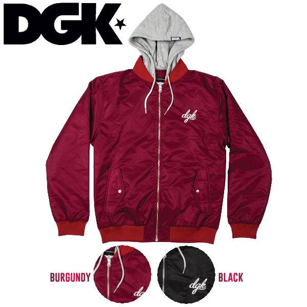 【DGK】ディージーケー 2016秋冬 DEFEND JACKET メンズジャケット フード付き アウター スケートボード スケボー 2カラー