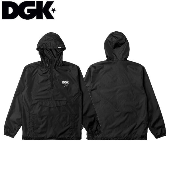 【DGK】ディージーケー 2018秋冬 Shadow Hooded Windbreaker Jacket メンズ ウィンドブレーカー アノラックジャケット アウター ジャケット スケートボード ストリート M・L・XL