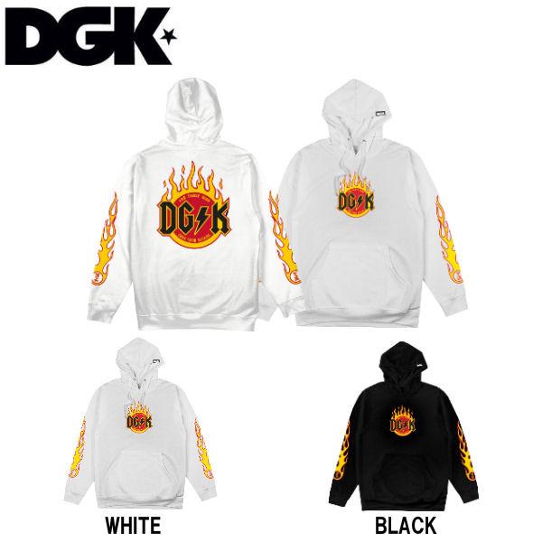 【DGK】ディージーケー 2018秋冬 Flame Hoody メンズ プルオーバーパーカー 長袖トップス M・L・XL 2カラー