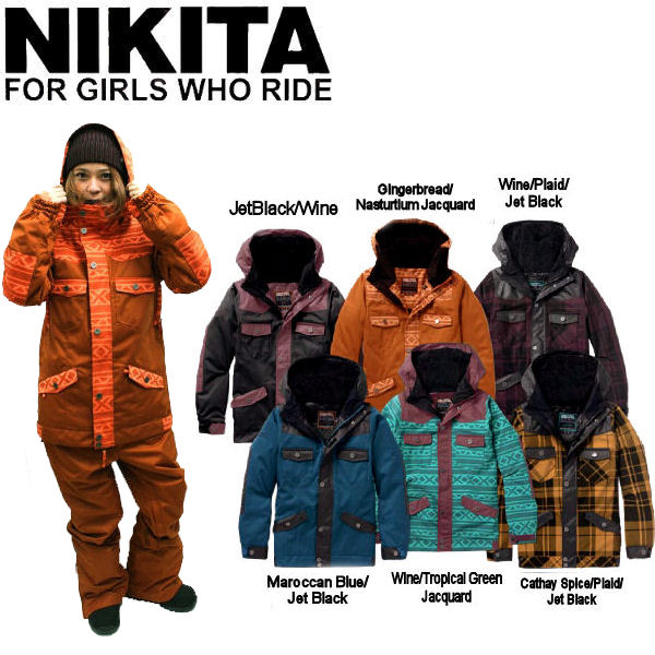 【NIKITA】ニキータ2014-2015秋冬 Mayon Jacket レディーススノージャケット/スノーボード スノボー/XS~XL/6カラー【あす楽対応】