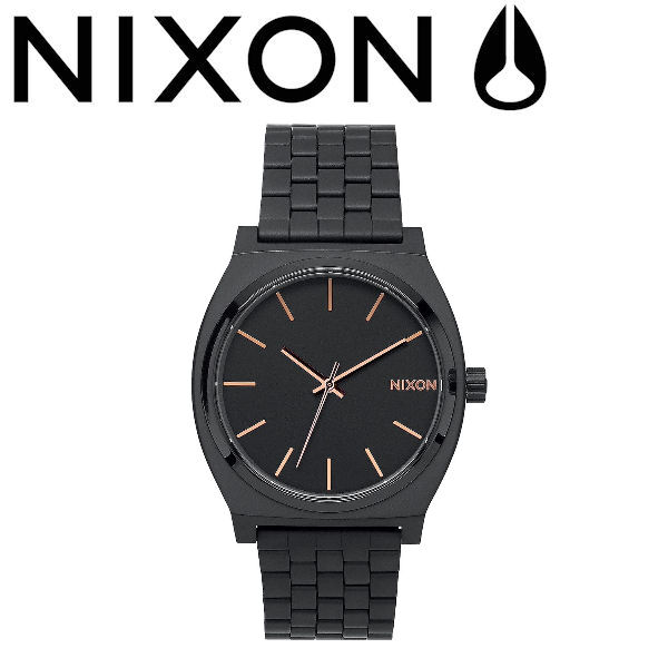 【NIXON】ニクソン THE TIME TELLER メンズ レディース ウォッチ アナログ腕時計 タイムテラー ALL BLACK/ROSE GOLD