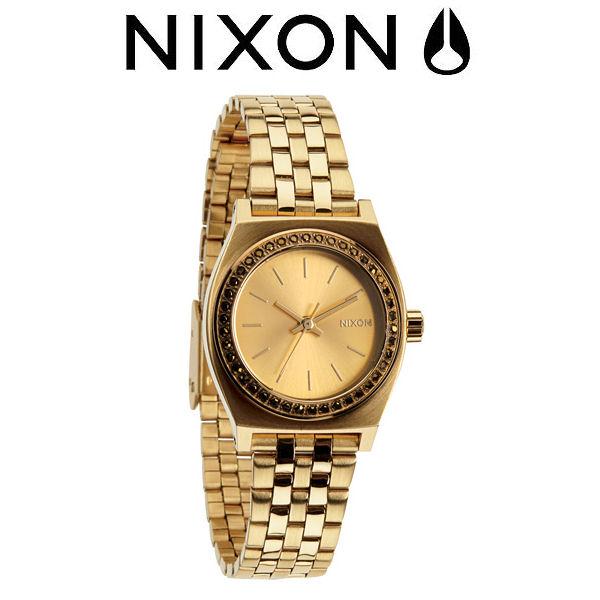 【NIXON】ニクソン 2014秋冬/THE SMALL TIME TELLER レディースウォッチ アナログ腕時計/ALL GOLD CRYSTAL