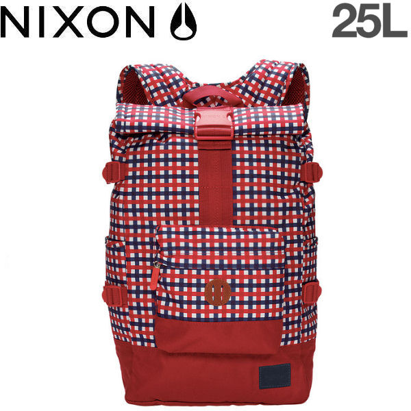 【NIXON】ニクソン2015春夏/SWAMIS BACKPACK ロールトップバッグ バックパック リュックサック/Red-Navy【あす楽対応】