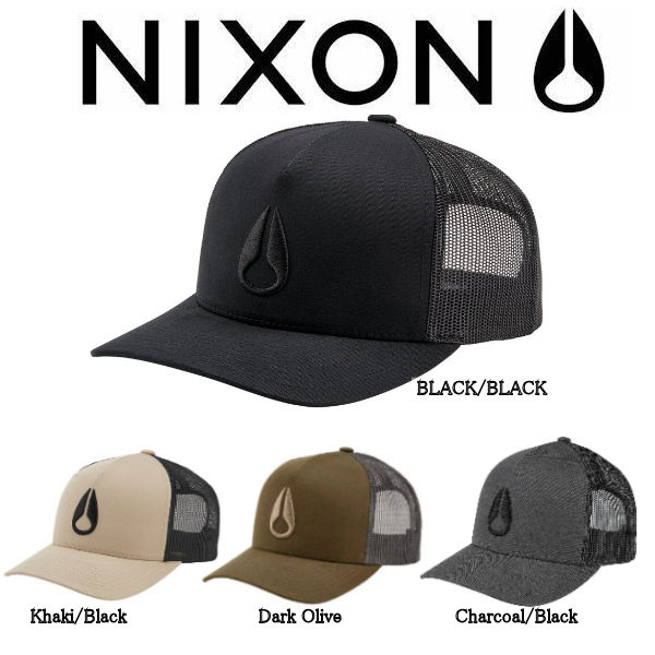 超特価SALE開催 Nixon キャップ 帽子 NIXON 出群 ニクソン Team Iconed Trucker Hat ロゴ アウトドア Fサイズ LOGO 4カラー ヘッドウェア メンズキャップ CAP あす楽対応 キャンプ