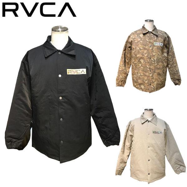 【RVCA】ルーカ 2019秋冬 RVCA SERIGRAPH COACHES JACKET コーチジャケット アウター キルティング スケートボード サーフィン アウトドア S/M/L/XL 3カラー【あす楽対応】