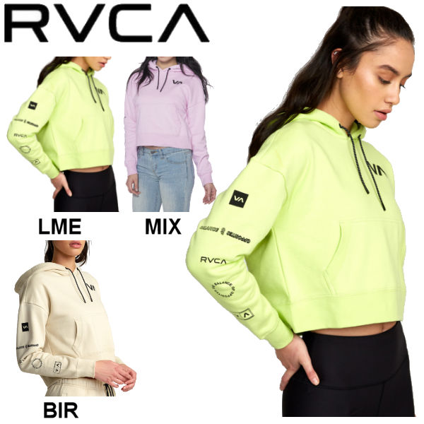 【RVCA】ルーカ 2020春夏 RVCA レディース SPORT HOODIE パーカー プルオーバー RVCA SPORT トップス アウトドア スケートボード サーフィン S/XS 3カラー【あす楽対応】