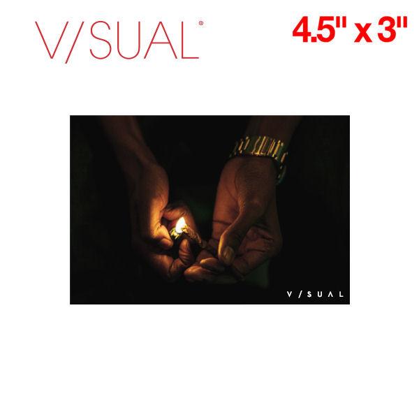 【V/SUAL】ヴィジュアル Burn ステッカー 縦約7.5cm×横約11.3cm VISUAL