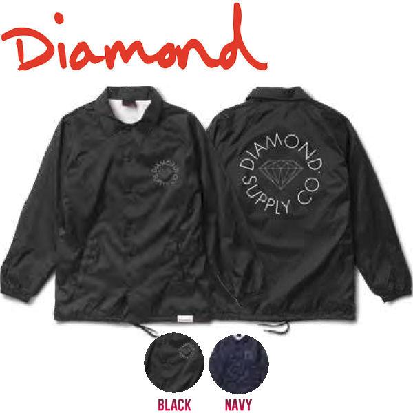 【DIAMOND SUPPLY CO】ダイアモンド 2017秋冬 CIRCLE LOGO COACHES JACKET メンズ コーチジャケット ライトアウター S-L 2カラー