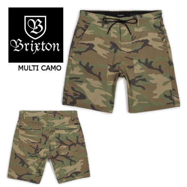 【BRIXTON】ブリクストン 2018春夏 PROSPECT SERVICE SHORT メンズハーフパンツ ショートパンツ 短パン 30インチ MULTI CAMO