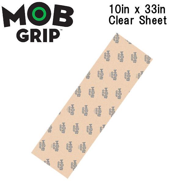 MOB GRIP クリアーデッキテープ 【MOB GRIP】モブグリップ Mob Clear Sheet Mob Skateboard Grip Tape クリア 透明 デッキテープ グリップテープ スケートボード スケボー sk8 10×33インチ