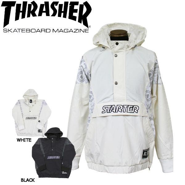 【THRASHER】スラッシャー 2018秋 FALL フォール STARTER BLACK ANORAK NYLON PARKA メンズ ナイロンパーカー アウター M・L・XL BLACK