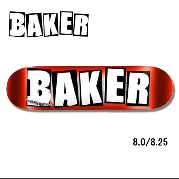 【BAKER】ベイカー BRAND LOGO RED FOIL ブランドロゴ スケートボード デッキ 板 7層 レッドフォイル 8.0/8.25/8.5【あす楽対応】