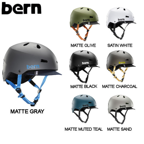 【BERN】バーン MACON VISOR メイコン バイザー メンズ ヘルメット プロテクター 耳あてなし スケート スノー 自転車 7カラー S/M/L/XL/XXL/XXXL【あす楽対応】