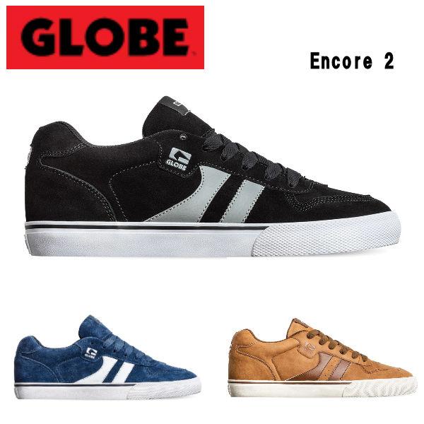 スケシュー スケートボード SKATEBOARD GLOBE グローブ Encore 2 メンズ スケートシューズ ランプ スニーカー ボウル 至高 贈り物 3カラー ストリート パーク 26.0cm~28.0cm あす楽対応 靴
