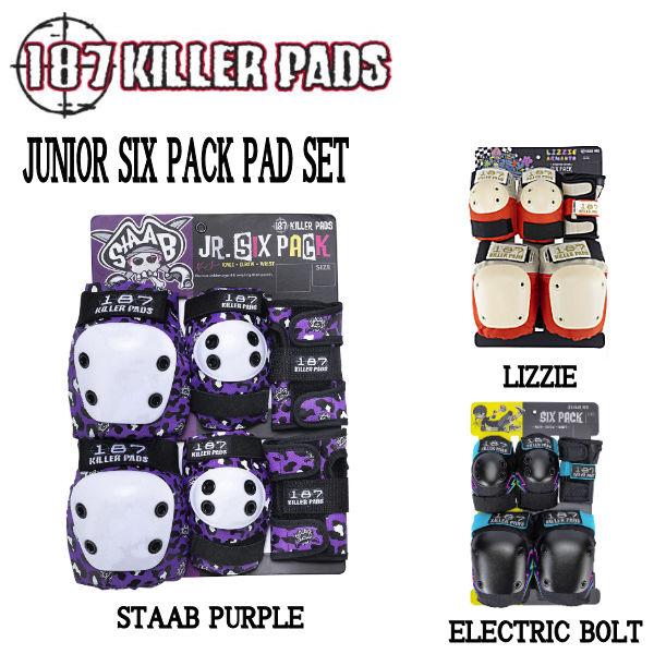 ジュニア キッズ プロテクター 人気ブランド 187 ギフ_包装 KILLER PADS キラーパッド 新商品!新型 JUNIOR SIX ONE あす楽対応 PACK 3カラー エルボーパッド 正規品 ニーパッド 3点セット SIZE リストガード