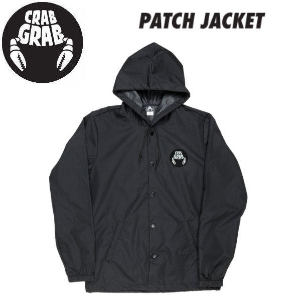 【CRABGRAB】クラブグラブ 2018-2019 PATCH JACKET メンズ ジャケット アウター フード付き S・M・L・XL BLACK 【あす楽対応】