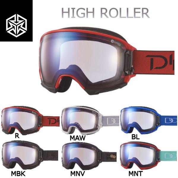【DICE】ダイス 2018-2019 HIGH ROLLER メンズ レディース スノーゴーグル 調光ULTRAレンズ スノーボード 6カラー【あす楽対応】