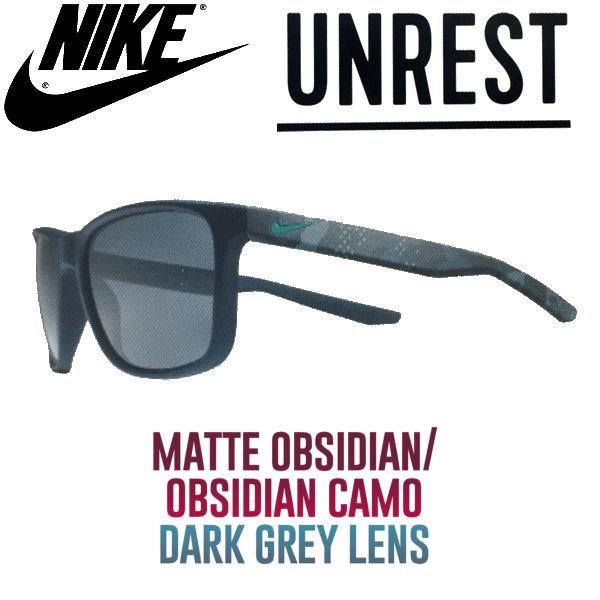 【NIKE SB】ナイキ 2017春夏 UNREST サングラス MatteObsdian-ObsidianCamo DarkGreyLens
