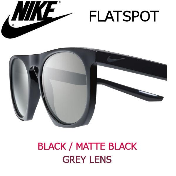 【NIKE SB】ナイキ 2017春夏 FLATSPOT サングラス Black / Matte Black Grey Lens