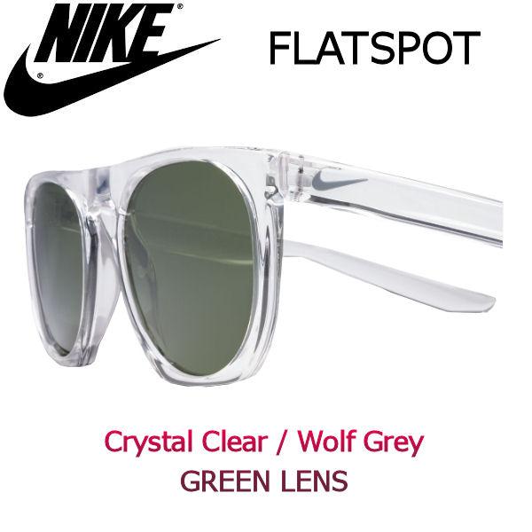 【NIKE SB】ナイキ FLATSPOT サングラス Crystal Clear / Wolf Grey Green Lens