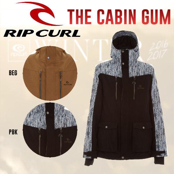 【RIP CURL】リップカール2016-2017 THE CABIN GUM JKT メンズスノージャケット スノーボードウェア 2カラー M・L 【あす楽対応】