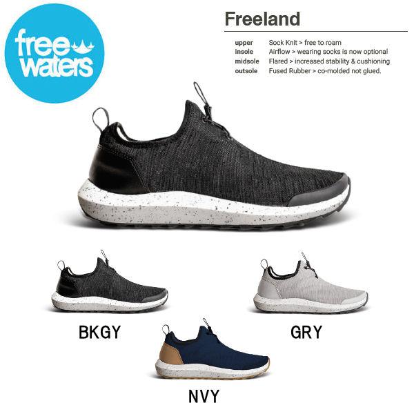 【freewaters】フリーウォータース 2018春夏 Freeland メンズ スニーカー シューズ 靴 26cm-29cm 3カラー