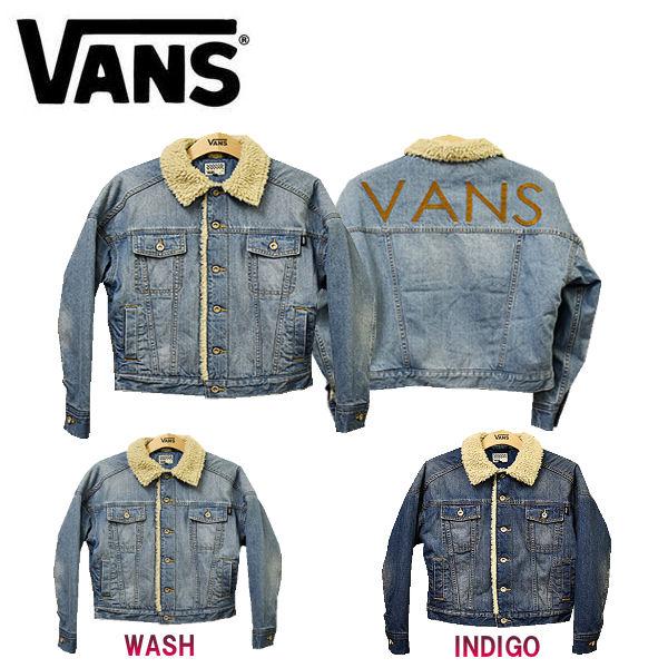 【VANS】バンズ 2017秋冬 Denim Boa Jacket レディース アウター ボアジャケット ジージャン S・M 2カラー