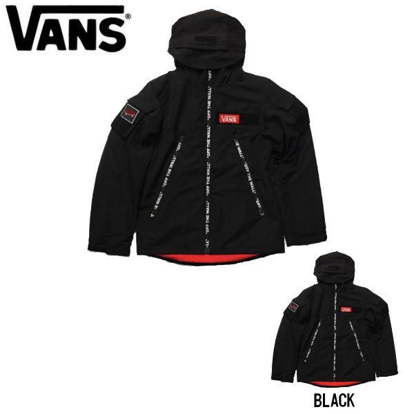 【VANS】バンズ 2019秋冬 Velcro Tactical Sports Jacket メンズ スポーツジャケット アウター 長袖 S・M・L・XL 2カラー BLACK 【あす楽対応】