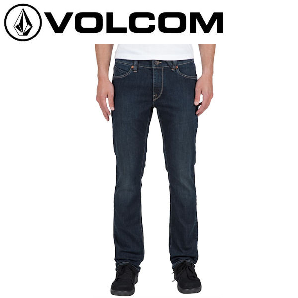 【VOLCOM】ボルコム Badger Denim メンズデニムパンツ ボトムス 長ズボン/28-36/UDB【あす楽対応】【正規品】