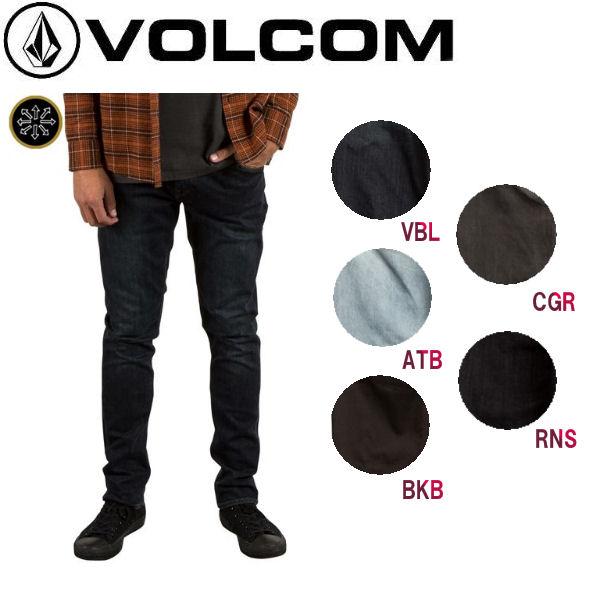 【VOLCOM】ボルコム 2X4 DENIM メンズデニムパンツ ジーンズ 長ズボン 28-32インチ 5カラー 【正規品】