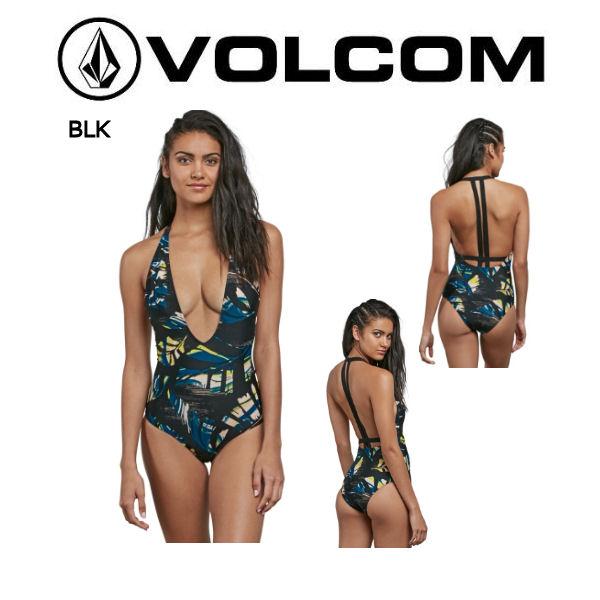【VOLCOM】ボルコム 2018春夏 LOST MARBLES 1PC レディース ワンピース 水着 サーフィン XS-M