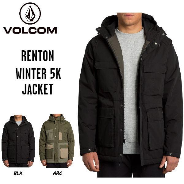【VOLCOM】ボルコム 2019 秋冬 RENTON WINTER 5K JACKET メンズ ジャケット ジップアップ フードパーカー アウター M・L 2カラー【正規品】【あす楽対応】
