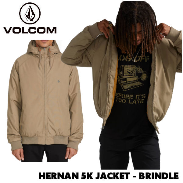 【VOLCOM】ボルコム 2019 秋冬 HERNAN 5K JACKET メンズ ジャケット ジャンパー フードジャケット アウター M・L BRINDLE【正規品】【あす楽対応】