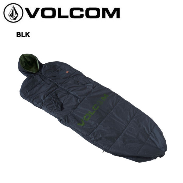 【VOLCOM】ボルコム 2019春夏 CIRCLE STONE SLEEPING BAG スリーピングバッグ 寝袋 フェス アウトドア ブラック