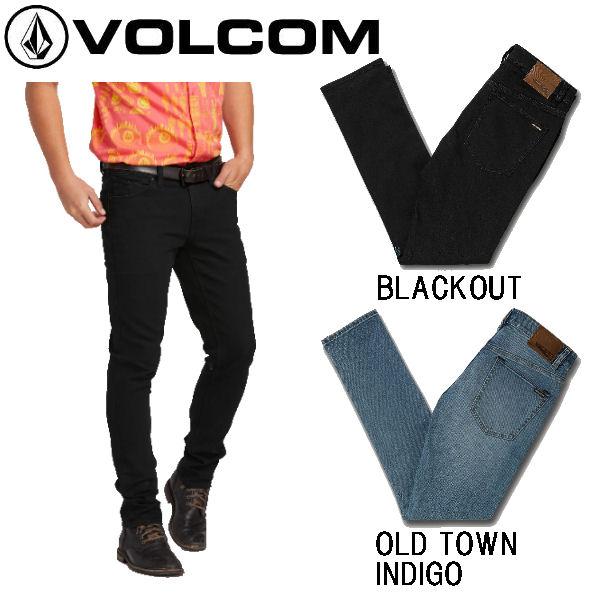 【VOLCOM】ボルコム 2X4 SKINNY FIT JEANS メンズ スキニーフィットジーンズ デニム ロングパンツ ボトムス 28-36インチ 2カラー【あす楽対応】