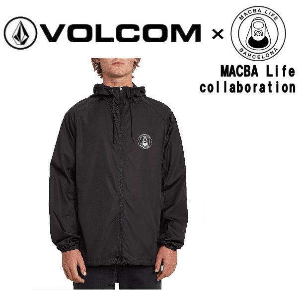 【VOLCOM】ボルコム 2020春夏 MBLxVLCM WINDBREAKER MACBA Life コラボ メンズ ウインドブレーカー スケートボード S/M/L/XL ブラック【あす楽対応】