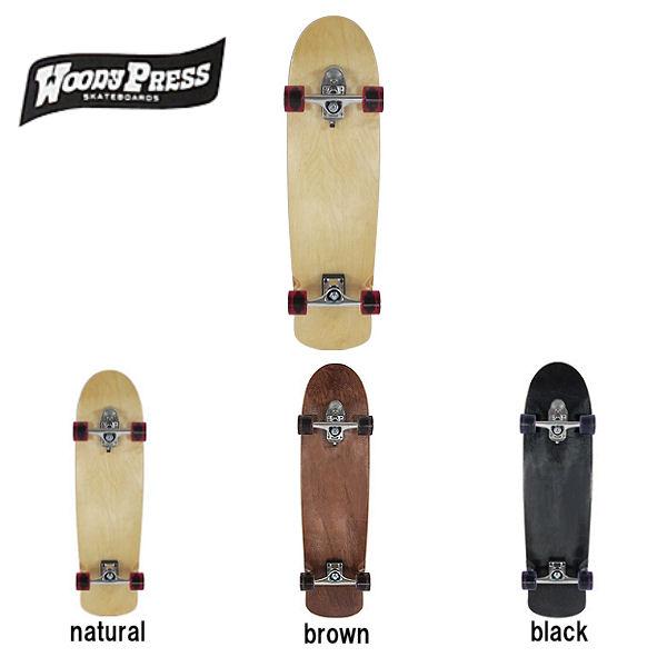 【WOODY PRESS】ウッディープレス SURF SKATEBOARD サーフスケートボード カービング コンプリート 2カラー 35インチ
