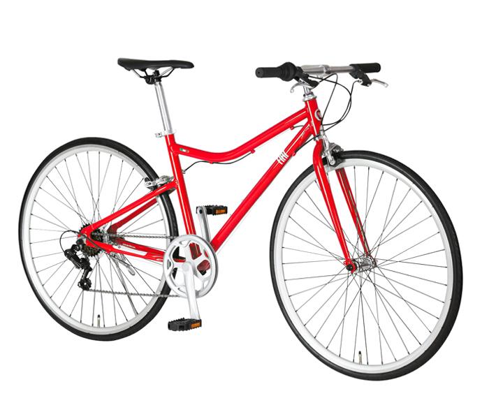 アルミパーツを多数装備した軽量クロスバイク 実用的な外装6段変速と 疲れにくいフラットハンドル コントロールがしやすいキャリパーブレーキ採用 通勤 当店は最高な サービスを提供します 通学 プレゼント サイクリングに最適 自転車 配送先一都三県一部地域限定送料無料 FIAT AL-CRB 7006 700×28C クロスバイク レッド おしゃれ フラットハンドル フィアット 700C 6段変速ギア LOOP 通販 軽量