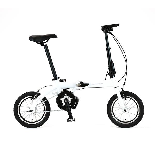折り畳み自転車 電動アシスト TRANS MOBILLY ULTRA LIGHT E-BIKE AL-FDB140E ホワイト 白 軽量 小型 コンパクト持ち運び可能