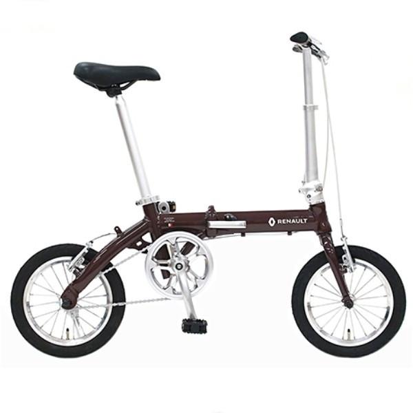 配送先一都三県一部地域限定送料無料 2018年モデル 自転車 ルノー RENAULT 自転車 折りたたみ自転車 ブラウン14インチ 軽量 ギアなし 折りたたみ自転車 ルノー LIGHT8 AL-FDB140 ライトエイト アルミニウム 変速 変速なし 通販 おしゃれ