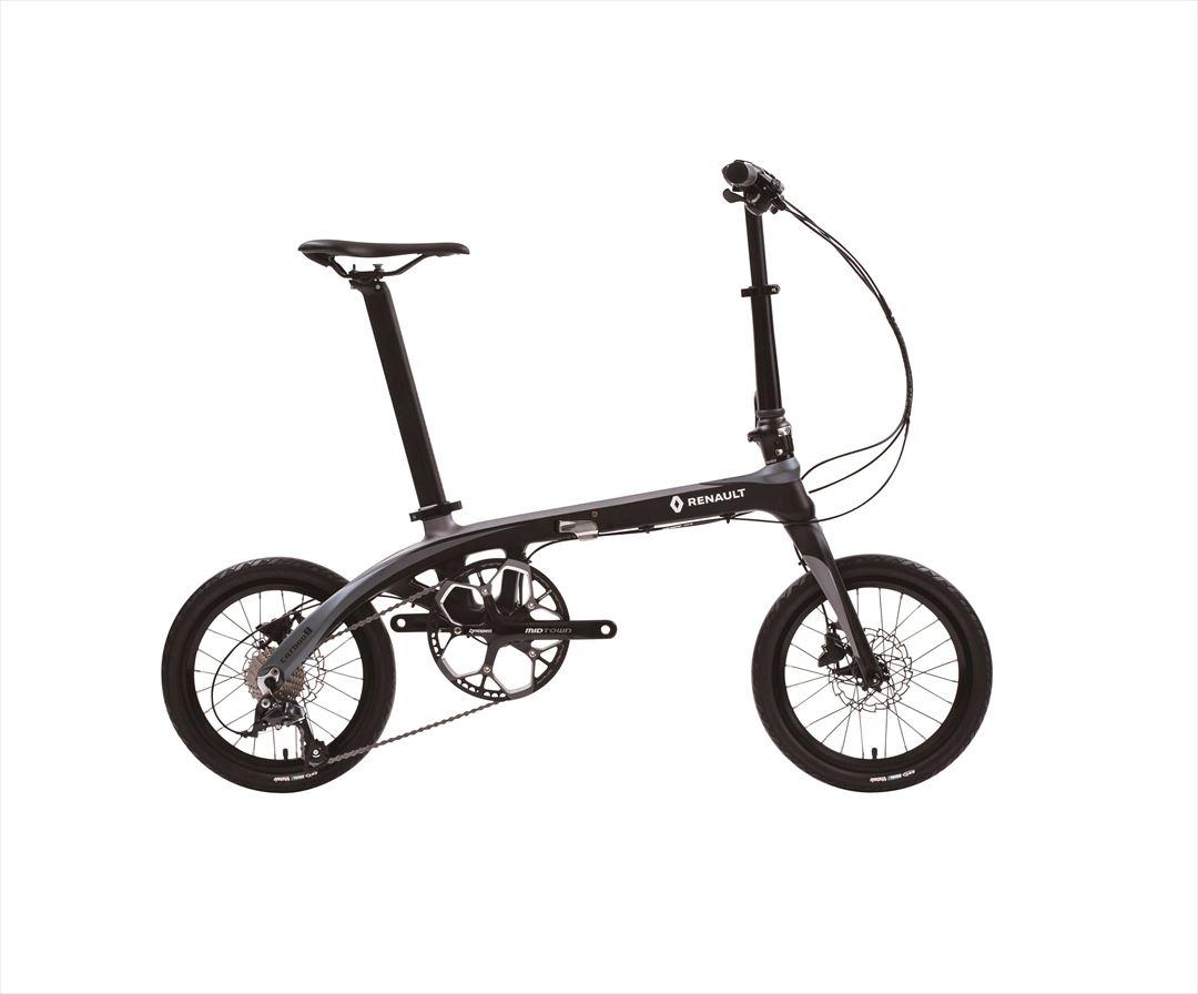 2018年モデル 自転車 ルノー(RENAULT) カーボンフレーム ブラック 自転車 外装9段ギア 折りたたみ自転車 16インチ 軽量 折りたたみ自転車 ルノー RENAULT Carbon 8 (カーボン8 C169) 通販 おしゃれ