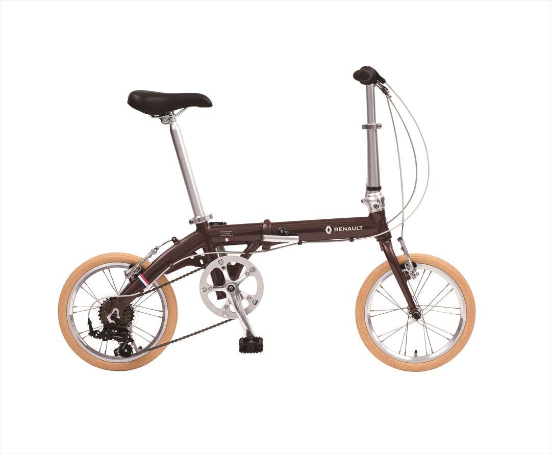 2018年モデル 自転車 ルノー(RENAULT) 自転車 折りたたみ自転車 ブラウン 16インチ 軽量 6段ギア 折りたたみ自転車 ルノー LIGHT9 Nouveau (AL-FDB166) 通販 おしゃれ