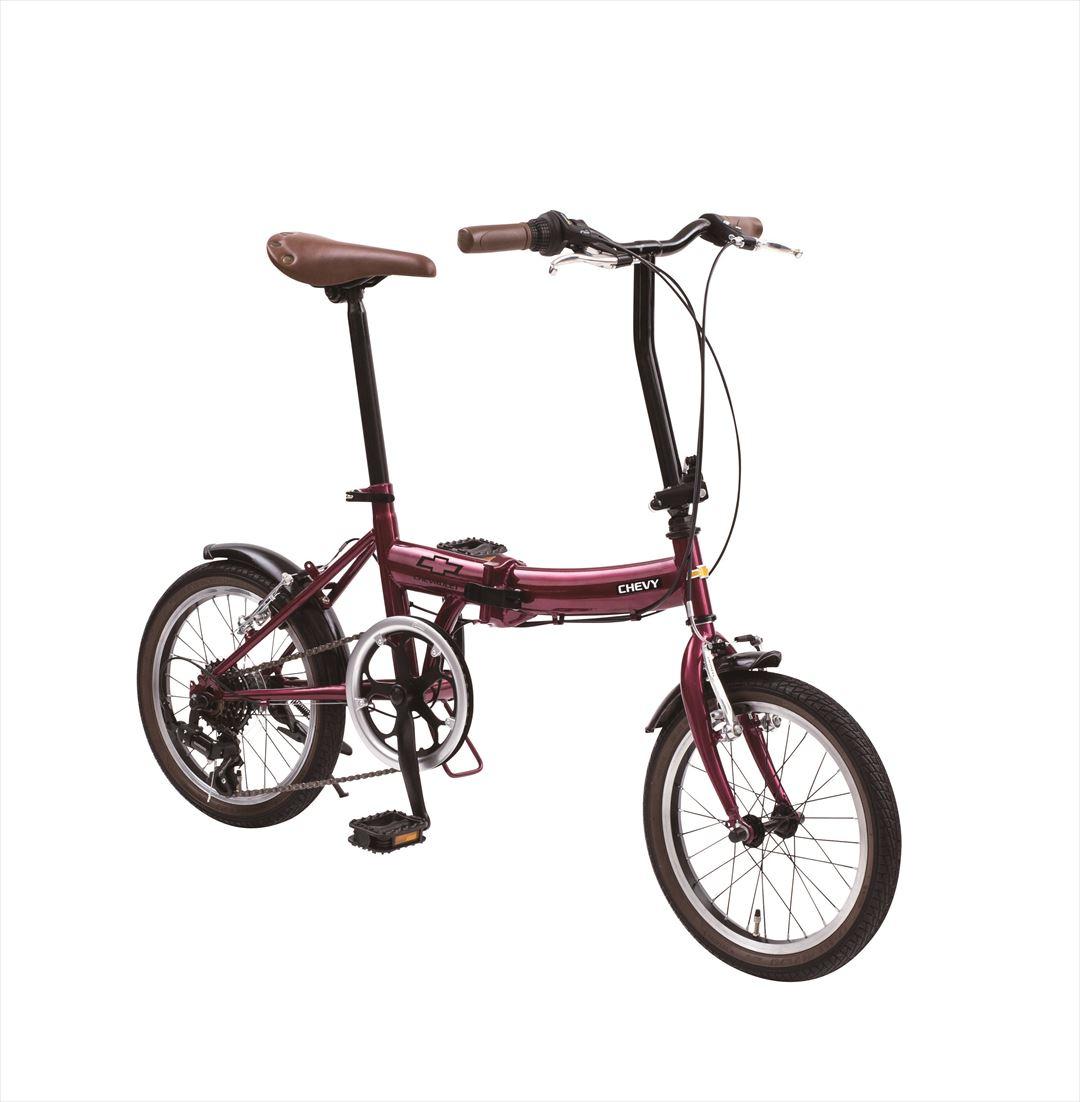 2018年モデル送料無料シボレー折りたたみ自転車16インチ折りたたみ自転車外装6段変速ギアCHEVYClassicCHEVYFDB166